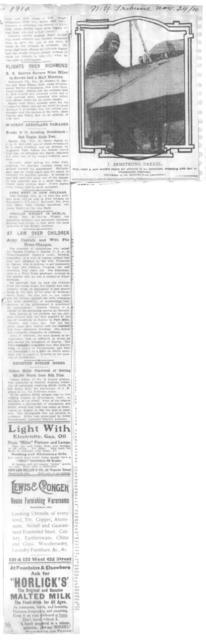 Drexel Soars to 9,970-Foot Level [New York Tribune, 24 November 1910]