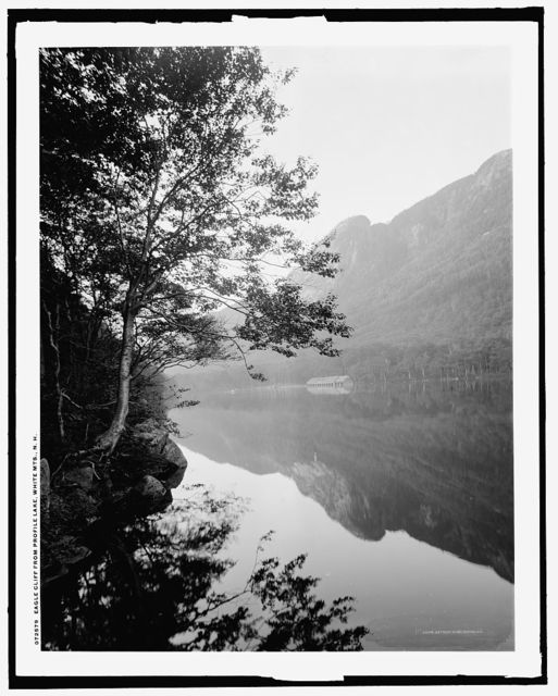 Eagle Cliff from Profile Lake, White Mts., N.H.