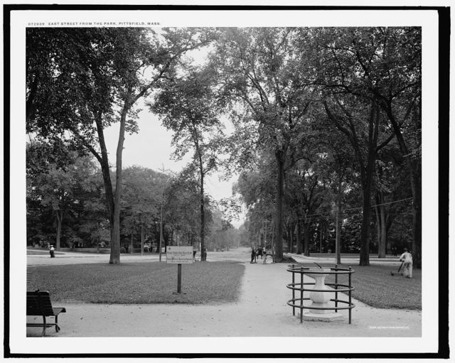 East Street from the park, Pittsfield, Mass.