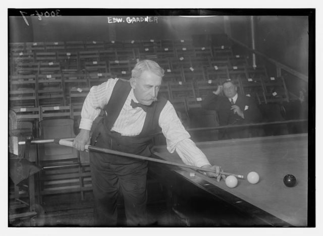 Edw. Gardner playing pool