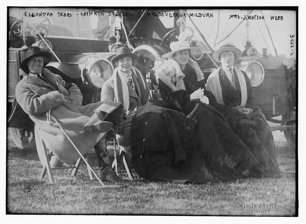 Eleonora Sears,Kathryn Steele,Mrs Watson Webb,women,cars Devereux Milburn,J
