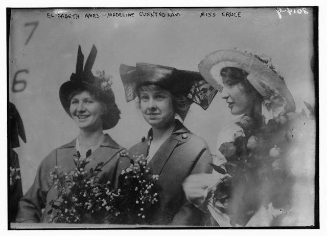 Eliz. Ames -- Madeline Cunningham, Miss Cruce