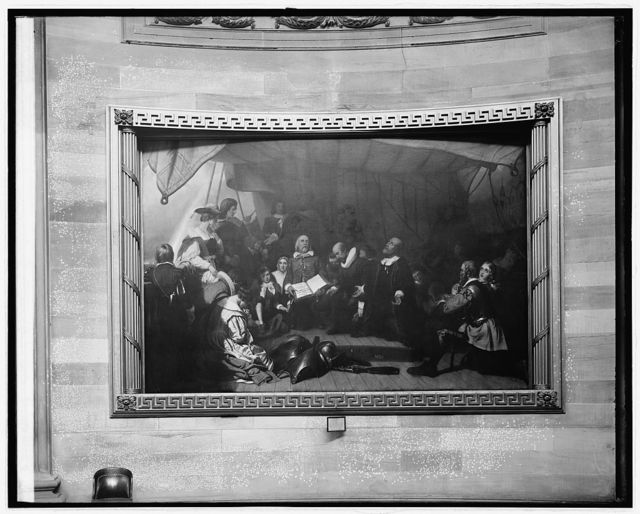 "Embarkation of Pilgrims at Delft-Haven"" painting in Capitol, [Washington, D.C.]"