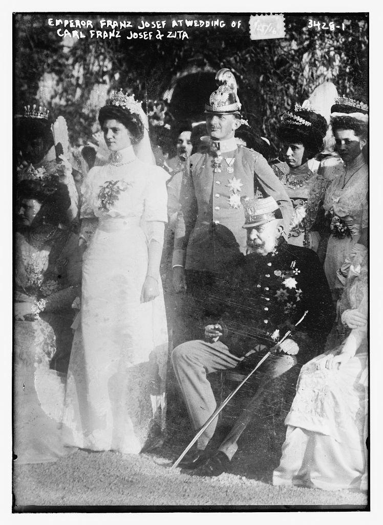 Emperor Franz Josef at wedding of Carl Franz Josef and Zita