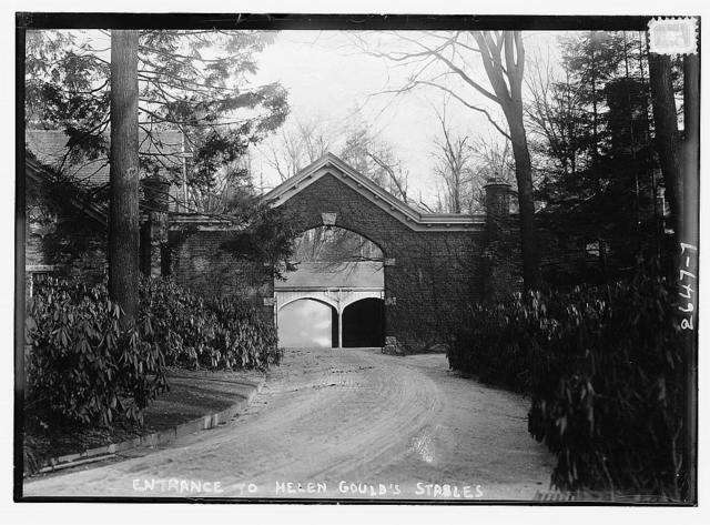 Entrance to Helen Gould's stables