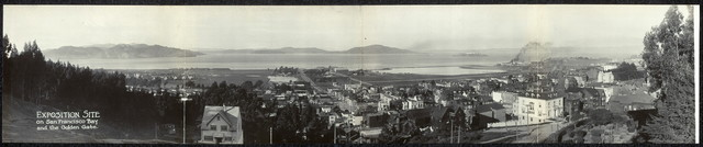 Exposition site on San Francisco Bay and the Golden Gate