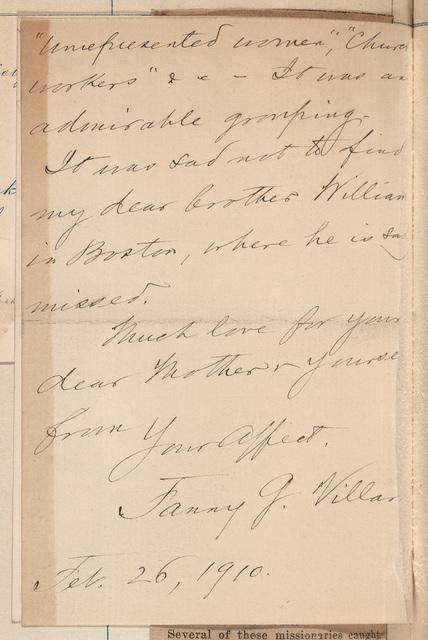 Fanny Garrison Villard to Anne Fitzhugh Miller