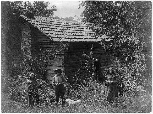 Faust family and cabin home