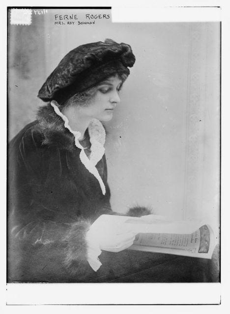 Ferne Rogers (Mrs. Roy Bowman)