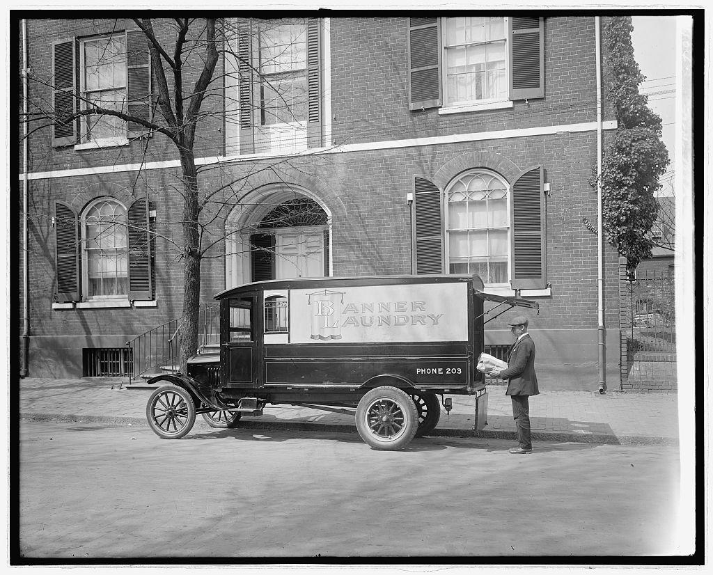 Ford Motor Co. Banner Laundry truck