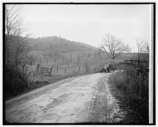 Ford Motor Co., Lincoln in Shenandoah Nat. Park, [Virginia]