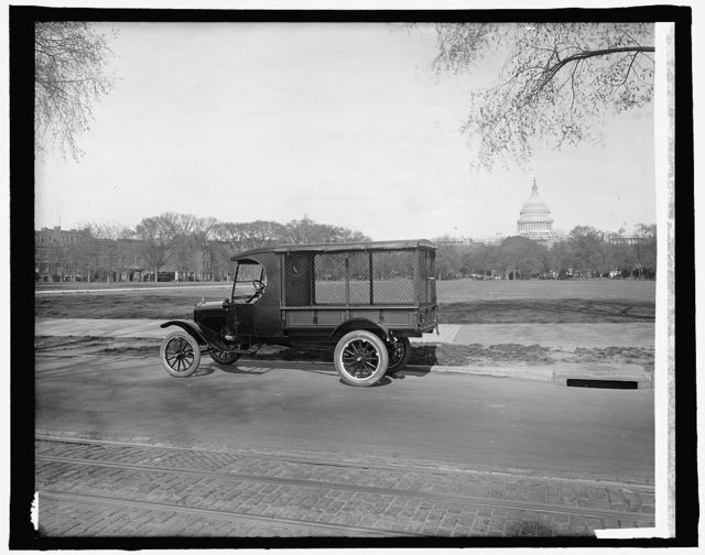 Ford Motor Co. new Ford body [U.S. Capitol, Washington, D.C., in background]