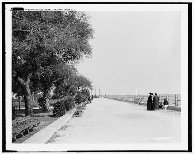 Fort Sumpter [i.e. Sumter] from the battery, Charleston, S.C.