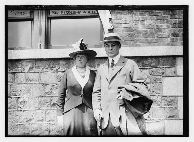 Fred Herreshoff and wife