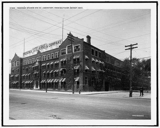 Frederick Stearns and Co. laboratory from southeast, Detroit, Mich.