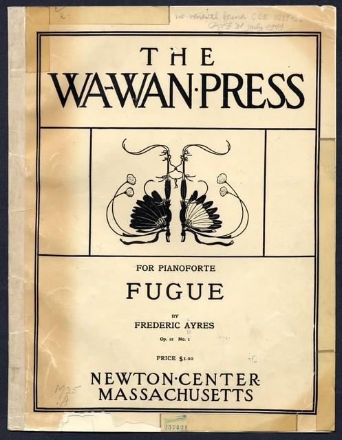 Fugue, op. 12, no. 1