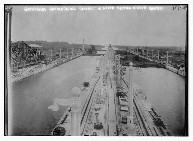Gatun Locks -- Ladder Dredge COROZAL in N. section of W. chamber
