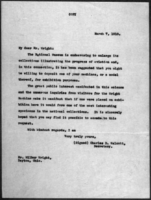 General Correspondence:  Smithsonian Institution, 1910-1911