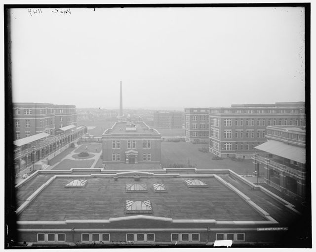 [General view from roof of administration blg., Cin. Gen. Hospital, Cincinnati, Ohio]