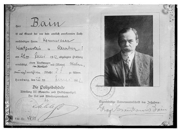 German drivers license - Bain