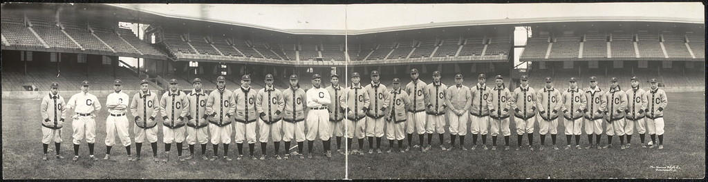 Group of Cleveland Base Ball players