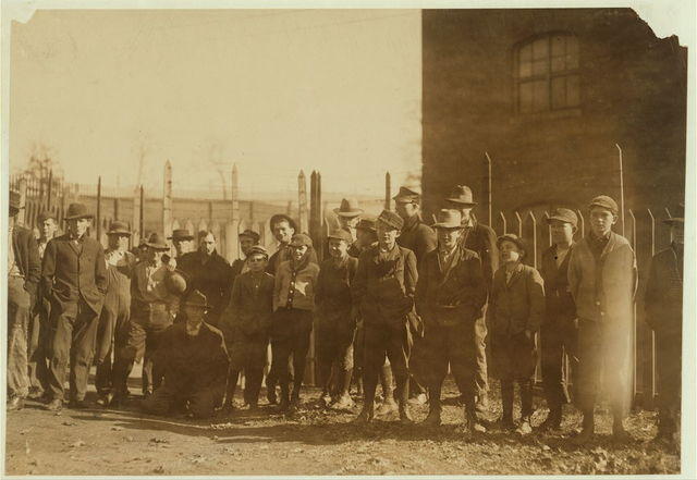 Group of workers in Indian Head Mills. Youngest ones would not be photo'd. (See label 1839.)  Location: Cordova, Alabama.