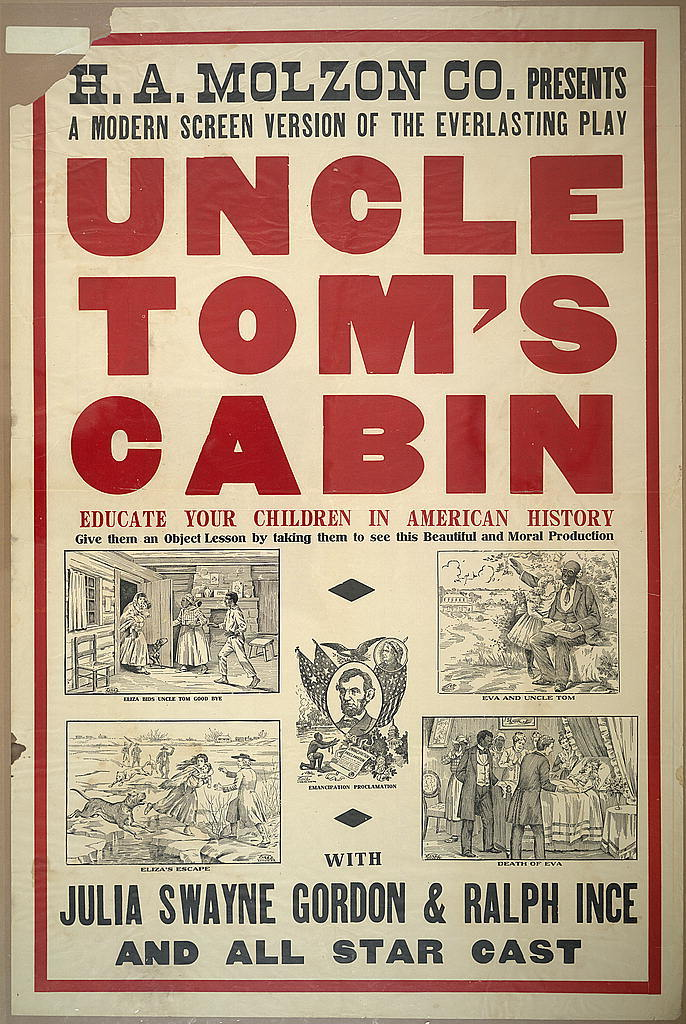 H. A. Molzon presents a modern screen version o fthe everalsting play Uncle Tom's cabin with Julia Swayne Gordon & Ralph Ince