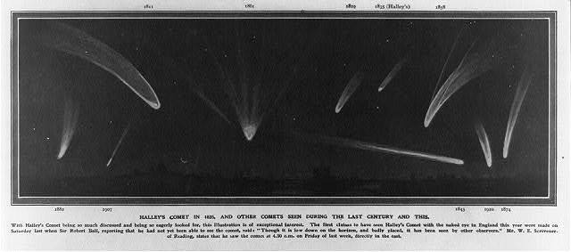 Halley's Comet in 1835, and other comets seen during the last century and this
