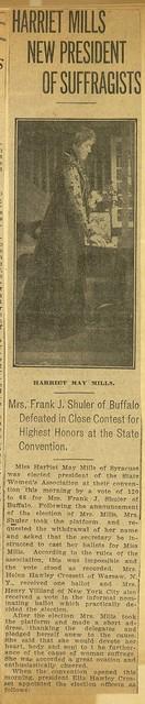 Harriet Mills New President of Suffragists