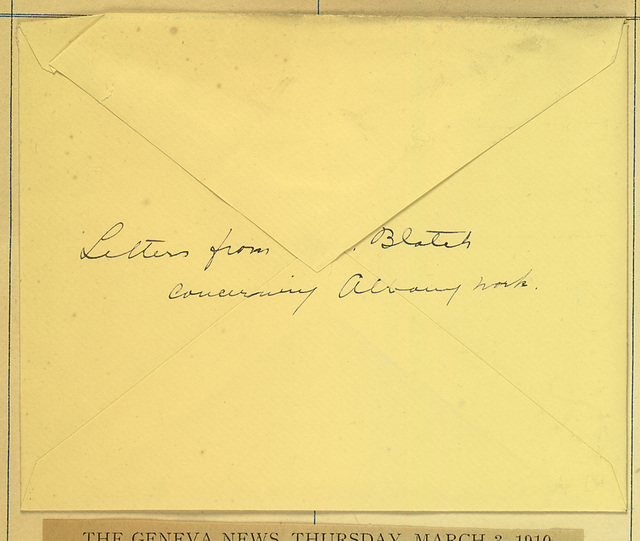 Harriot Stanton Blatch to Anne Fitzhugh Miller, February 1 and 2, 1910