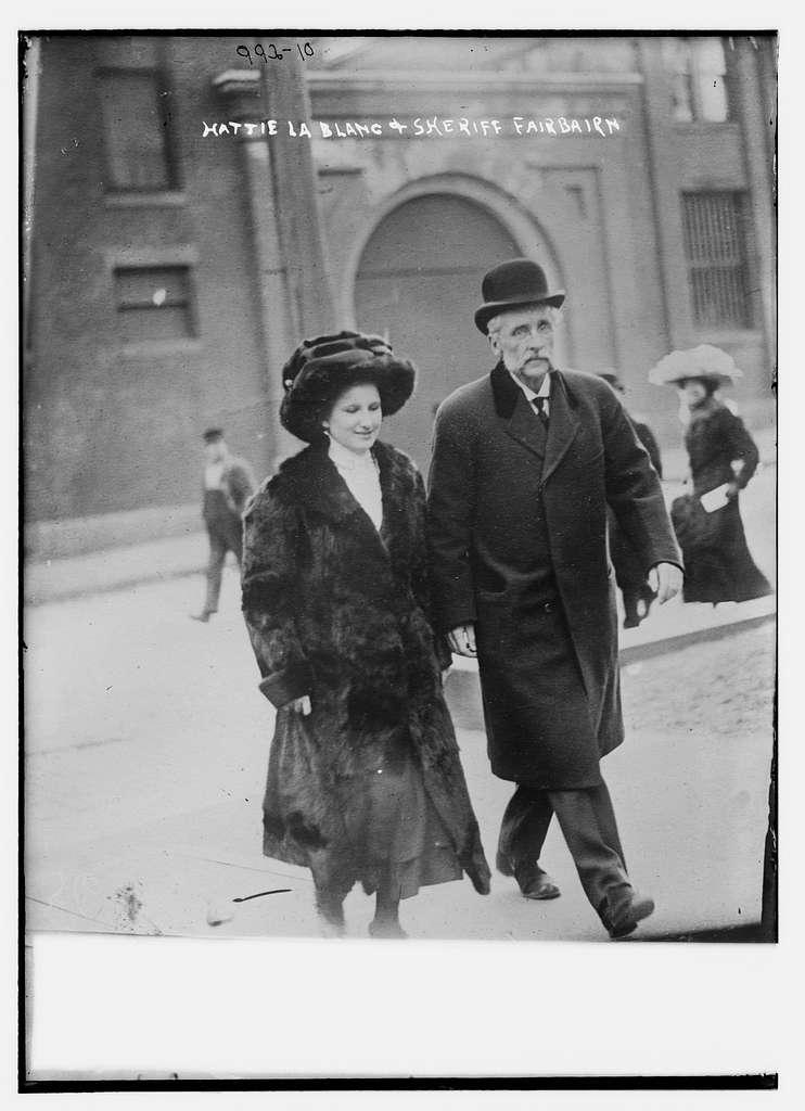 Hattie La Blanc with Sheriff Fairbairn
