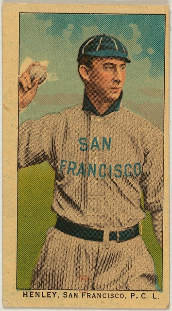 [Henley, San Francisco Team, baseball card portrait]