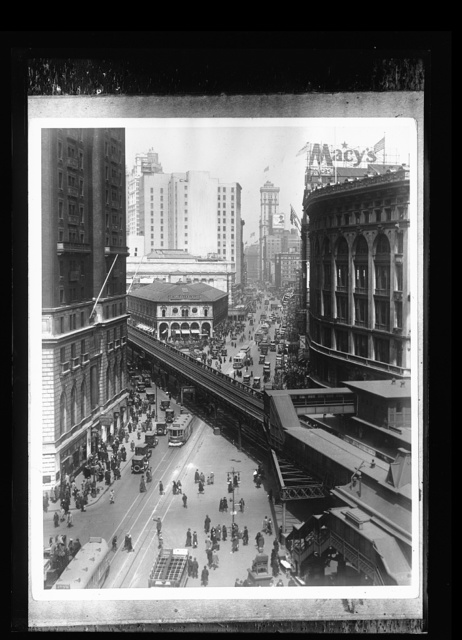 [Herald Square elevated railroad and Sixth Avenue near 34th Street, New York, N.Y.]