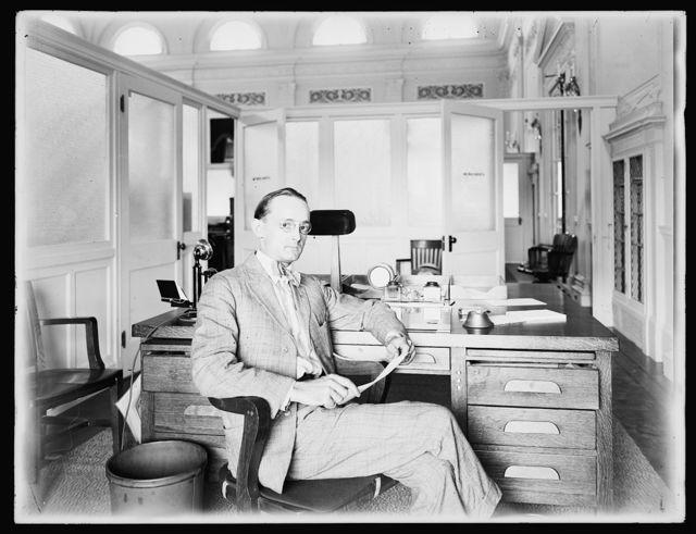 Herbert E. French, photographer, in office