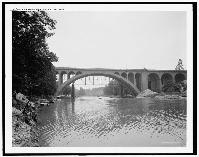 High bridge, Rocky River, Cleveland, O[hio]