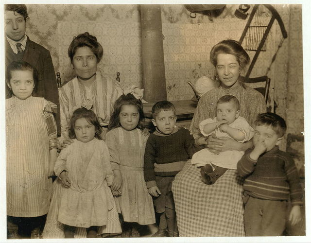 Home of Rosario Guarino, 13 Mechanic Street. (Boy on left.) These people spend the summer at one of the Canning Centres.  Location: Buffalo, New York (State)