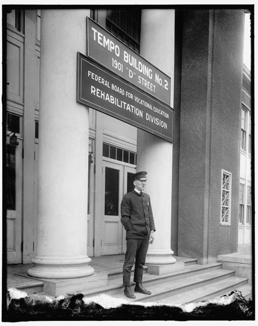 Home Sector: Tempo Building No. 2, 1901 D Street. Federal Board for Vocational Education, Rehabilitation Division