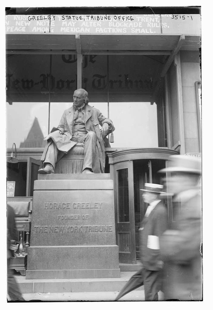 Horace Greeley statue, Tribune Office