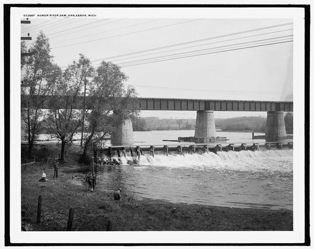 Huron River dam, Ann Arbor, Mich.