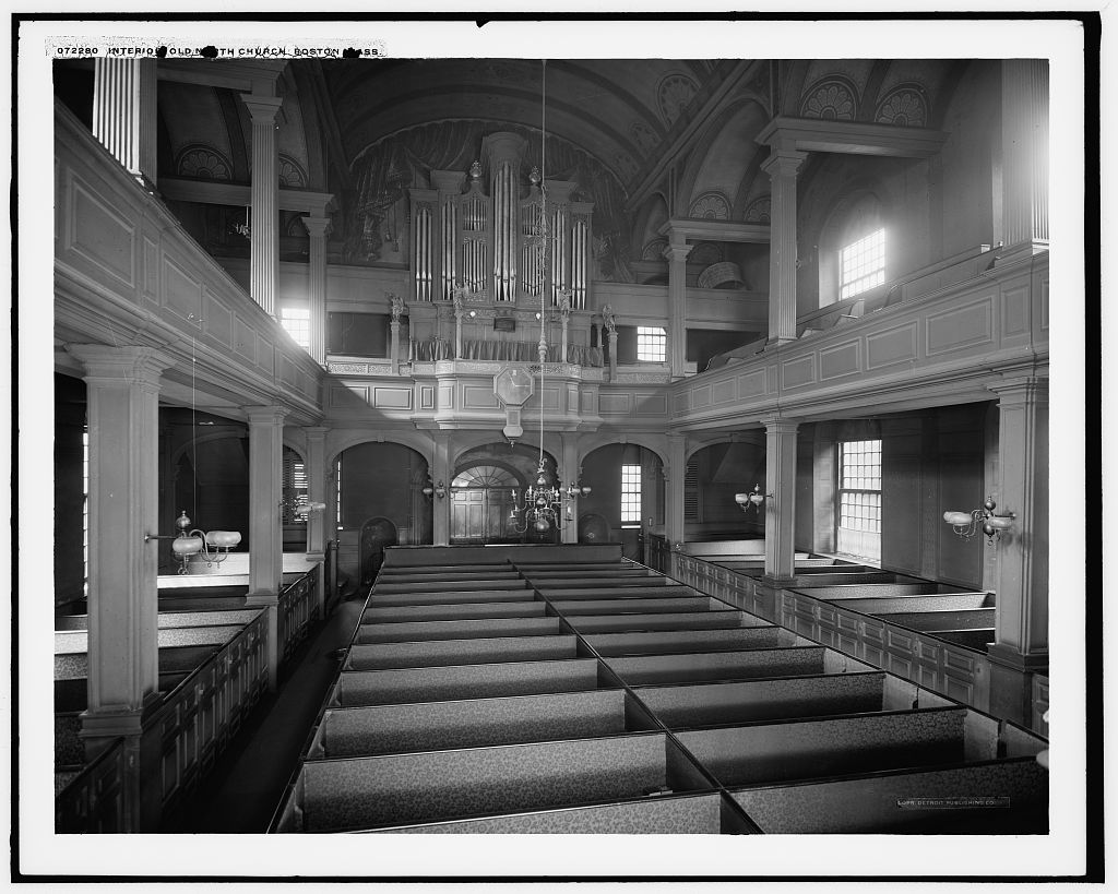 Interior, Old North Church [i.e. Christ Church], Boston, Mass.