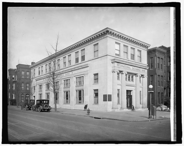 International Exchange Bank, 5th and H St., N.W., Washington, D.C.]