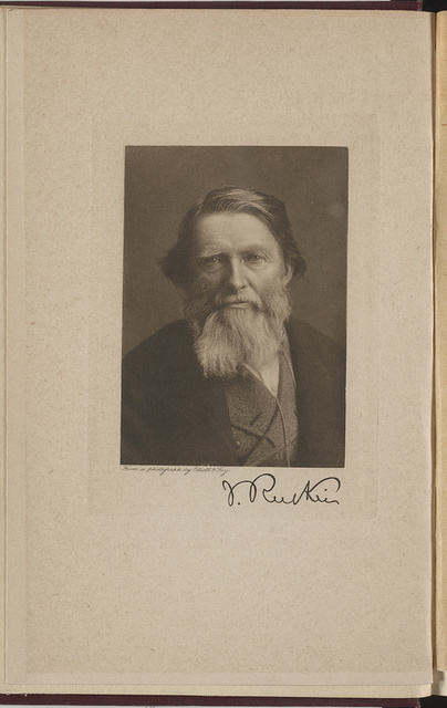 J. Ruskin / From a photograph by Elliott & Fry.