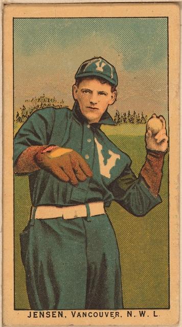 [Jenson, Vancouver Team, baseball card portrait]