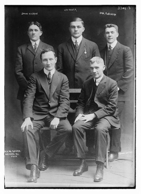 Johnny Kilbane, Leo Houck, Sam Robideau, [J]ack McGuigan, Johnny Loftus, National A.C. Phila.