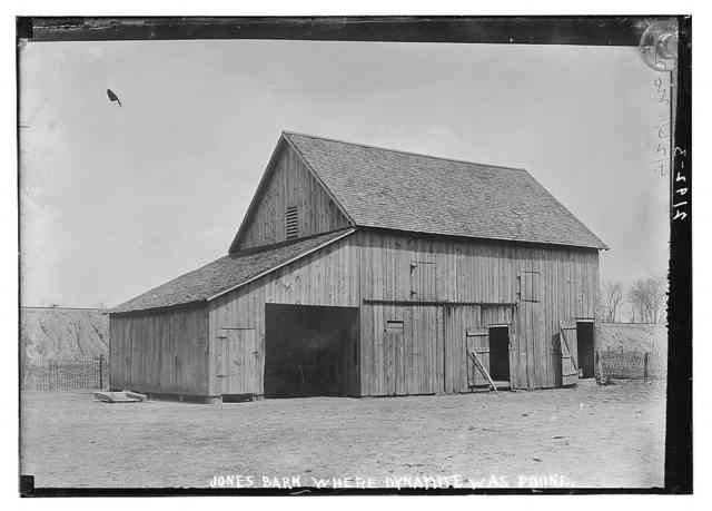 Jones Barn where dynamite was found
