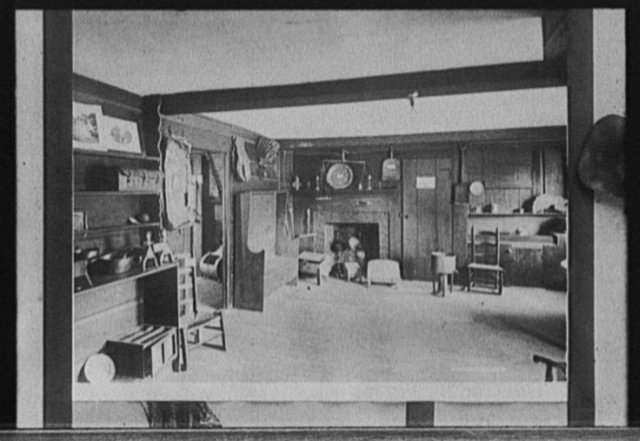 Kitchen and living room, John Hancock House, Lexington, Mass.