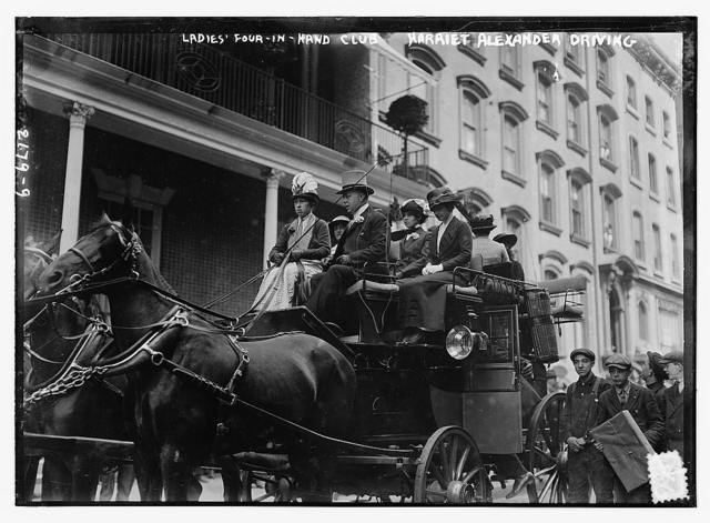Ladies' 4-in-hand-club [Harriet Alexander driving]