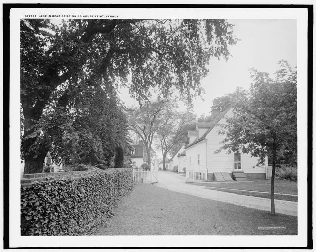 Lane in rear of spinning house at Mt. Vernon