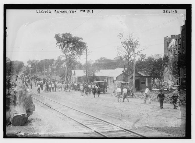 Leaving Remington Works, [Bridgeport]