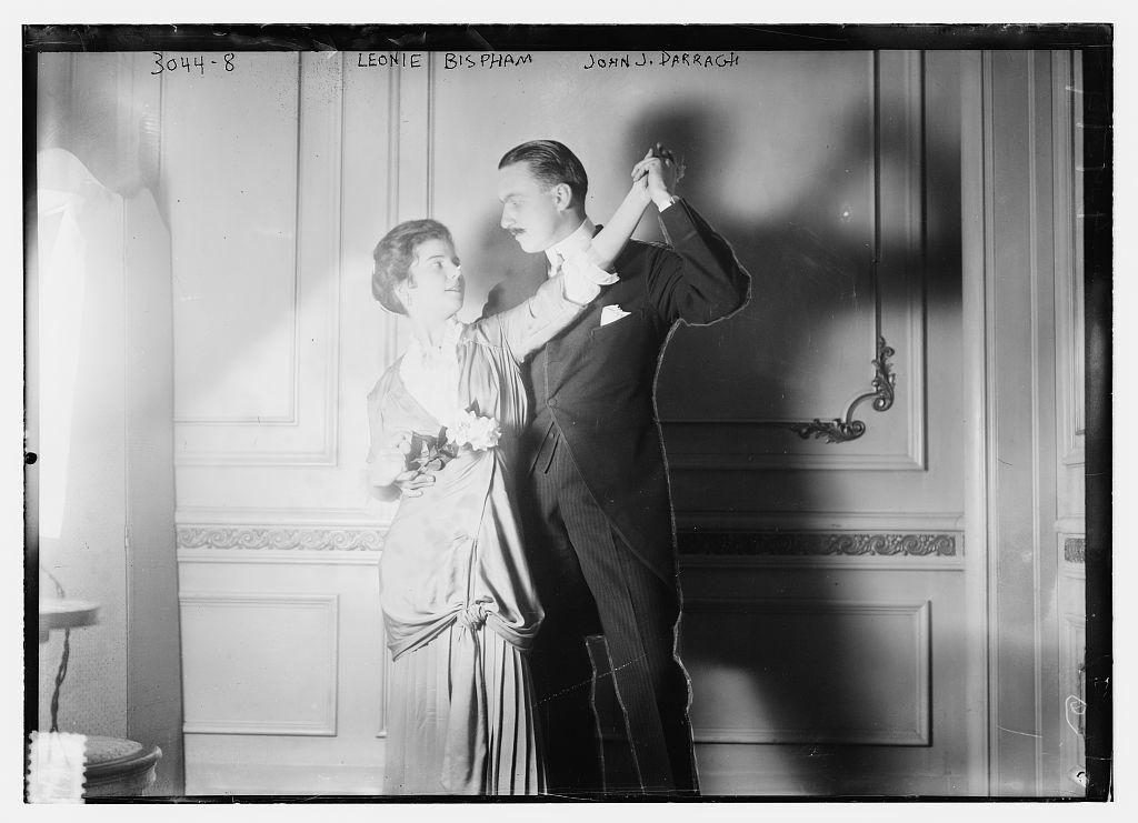 Leonie Bispham and John J. Darragh dancing